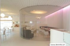 Hotel Berger - Derenko - Design, Planung und Realisierung in Hotel und Gastronomie Showroom, Ceiling Lights, Lighting, Projects, Design, Home Decor, Fine Dining, Log Projects, Decoration Home