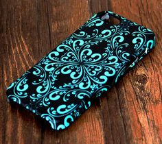 Elegant Green and Black Floral Pattern iPhone 6 Plus/6/5S/5C/5/4S/4 Dual Layer Durable Tough Case #296 - Acyc - 1