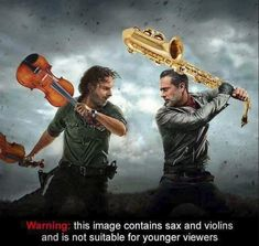 This Image Contains Sax and Violins : thewalkingdead