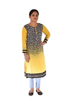 RP Boutique yellow Long Stylish Polyester Kurti RP Boutique http://www.amazon.in/dp/B01M9CYHYZ/ref=cm_sw_r_pi_dp_x_AWWeyb061S8XS