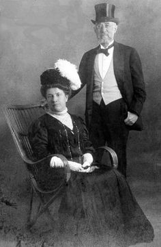 Isidor and Ida Straus. As they lived together, so they died together.