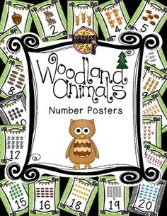 I am doing a forest theme in my classroom this year!  These number posters are just one of many product I will be creating this summer and I wanted to share with you.  Check out my store for more coordinating products.  They are sold individually and in a growing bundle.