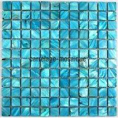 carrelage mosaique en nacre modele NACRE23 BLEU