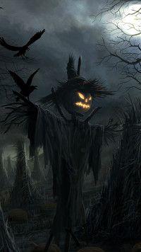 Halloweenowy strach na wróble