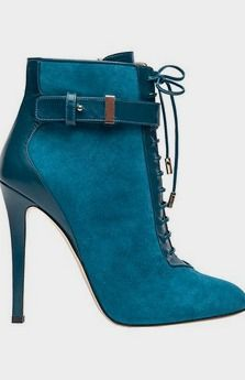 Elie Saab Teal Color booties