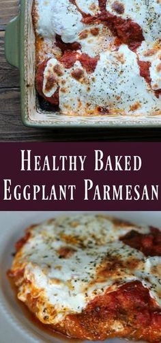 Healthy Baked Eggplant Parmesan – Organize Yourself Skinny - eggplant recipes Gourmet Recipes, Vegetarian Recipes, Cooking Recipes, Healthy Recipes, Lunch Recipes, Baked Eggplant Recipes Healthy, Recipes With Eggplant, Italian Eggplant Recipes, Healthy Foods