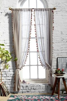 Magical Thinking Pompom Curtain $69.00 Buy 2 Get 15% Off Urban Outfitters
