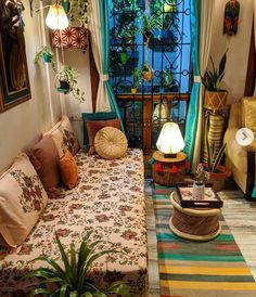 Home Room Design, Home Decor Bedroom, Home Interior Design, Indian Room Decor, House Interior Decor, India Home Decor, Home N Decor, Colourful Living Room Decor, Home Decor Furniture