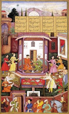 India  16th century Mughal miniature - I love to think this did happen exactly this way