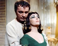 Richard Burton and Elizabeth Taylor playing Mark Antony and Cleopatra VII in the 1963 film, Cleopatra. (Photo by Silver Screen Collection/Getty Images) Richard Burton Elizabeth Taylor, Elizabeth Taylor Cleopatra, Eddie Fisher, Catherine Of Aragon, Passionate Love, Thing 1, Movie Couples, Romance Movies, Female Friends