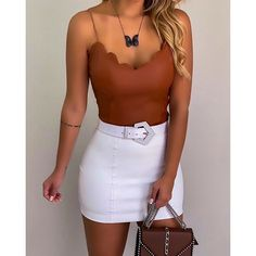 Jean Outfits, Casual Looks, White Shorts, Mini Skirts, Braided Hairstyles, Sexy, Womens Fashion, How To Wear, Clothes