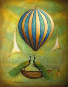 Share the light – Santie Cronje 2011 How To Draw Balloons, Canvas Painting Designs, Acrylic Paintings, Balloon Illustration, Naive Art, Hot Air Balloon, Air Ballon, Vintage Images, Illustrators