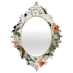 Wall mirror with a Baroque-inspired frame and bird motif.  Product: Wall mirrorConstruction Material: Mirrored g...
