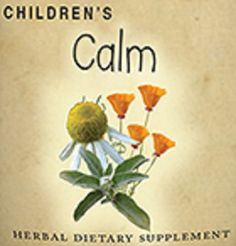 Childrens Calm Formula Liquid Herbal Tincture for Occasional Stress Worry Anxiety
