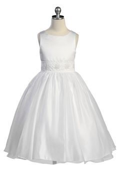 Click to enlarge : Elegant Satin Communion Dress
