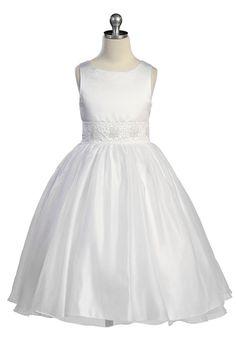 Click to enlarge : Elegant Satin Communion Dress