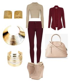 """Untitled #21"" by shayra-ortiz on Polyvore featuring Topshop, G by Guess, Monsoon, Bisjoux, WithChic and Givenchy"