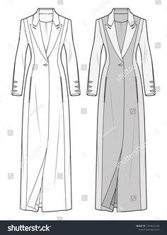 Fashion Design Sketchbook, Fashion Illustration Sketches, Fashion Sketches, Clothing Sketches, Dress Sketches, Flat Sketches, Fall Fashion Outfits, Fashion Flats, Types Of Dresses Styles