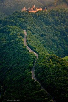 Road to Bourscheid Castle, Luxembourg