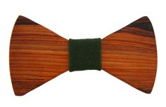 Reclaimed Cocobolo Wood Bow Tie. #Eco #Fashion for men.