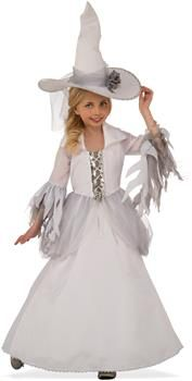 White Witch Sorceress Wizard Good Wicked Fancy Dress Up Halloween Child Costume White Witch Costume, Witch Dress, Witch Costumes, Girl Costumes, Vampire Costumes, Children Costumes, Witch Hats, Classic Halloween Costumes, Halloween Fancy Dress
