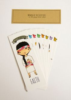 SALE until Nov. 1 2015 Set of 8 Bookmarks Women of the by UglyPets