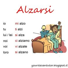 Verb of the day: ALZARSI (to get up)