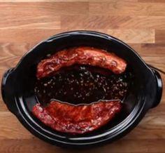 Des côtes levées à la mijoteuse avec sauce au miel et à l'ail... Facile et délicieux ! » Sauce Au Miel, Pork, Beef, Simple, Garlic, Cooking Food, Food, Recipes, Kale Stir Fry