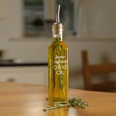 RUSTIC KITCHEN - Home Infused Olive Oil Bottle