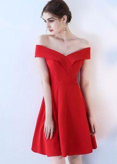 b1350638b Compre Vestido de Festa Decote Princesa Ombro a Ombro Vermelho