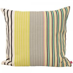 Eliana Stripe Cushion: Add a punch of colour and banish the bland...  The striking Eliana cushion is inspired by the beautiful designs and colours of Mayan folk costumes.  Mira Maya is a collaboration between the Guatemalan Mayan artisans and Swedish designers. The Mira Maya collection creates jobs for the indigenous people of Guatemala while the unique art of weaving gets an opportunity to survive.