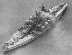 USS California arriving in Philadelphia for decommissioning. 7 December 1945.