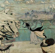 Louis Anquetin, Der Windstoß auf der Seine-Brucke, 1889 | Flickr - Photo Sharing!