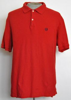 Ralph Lauren Chaps Shirt 2XLB Mens Short Sleeve Polo Rugby Red Solid Cotton  #RalphLaurenChaps #PoloRugby free shipping auction starting at $12.99