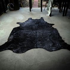 Black Metallic Cowhide Rug de Barrio Antiguo 725 Yale St Houston TX 77007 (713)8802105 Now Available