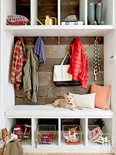 Expand existing closet space with a built-in entryway organizer.