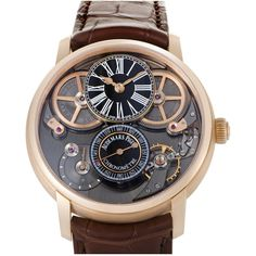 Audemars Piguet Men's Jules Audemars Watch ($100,000) ❤ liked on Polyvore featuring men's fashion, men's jewelry, men's watches, nocolor, watches, mens watches jewelry and mens black face watches