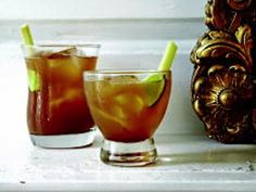 The Hugo--a more potent dark and stormy with fresh ginger and bitters