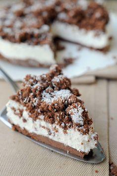 Sbriciolata cocco e ricotta al cacao torta fredda vickyart arte in cucina