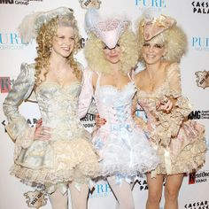 Best EVER Marie Antoinette inspired halloween costumes!! Now... imagine them as ZOMBIES