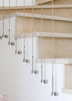 scala autoportante con cavi in acciaio inox industrial
