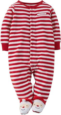 Amazon.com: Carter's Unisex Baby Christmas Velour Snap-Up Sleep & Play: Clothing
