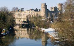 Warwick castle in winter