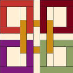 Este bloque de aspecto complejo pero de fácil realización lo encontramos en el blog Fave quilts . Son como anillos entrelazados que podrás ...