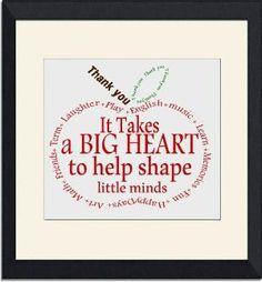 Teacher Gift- Appreciation Apple- Thank you- word art Instant Download Typography word cloud retirement Quote by bridgette.jons