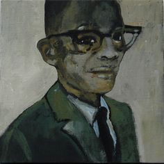 Noah Davis (RIP), Untitled (Boy with Glasses), 2010 Oil...