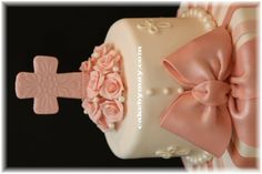 Simple Girl Baptism Cakes Design | Cakes For Baptism