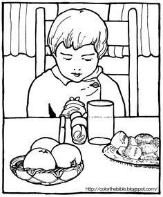 Image Result For Lds Prayer Before Meals Coloring Pages