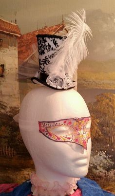 Black & white miniature top hat fascinator headpiece wedding vintage steampunk | Clothing, Shoes & Accessories, Women's Accessories, Fascinators & Headpieces | eBay!