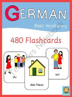 German Flashcards from Little Helper's Teaching Treasures on TeachersNotebook.com -  (120 pages)  - This set has 470 flashcards for your German lessons. They are a great visual help for introducing German vocabulary and cover all major topics from adjectives to weather.